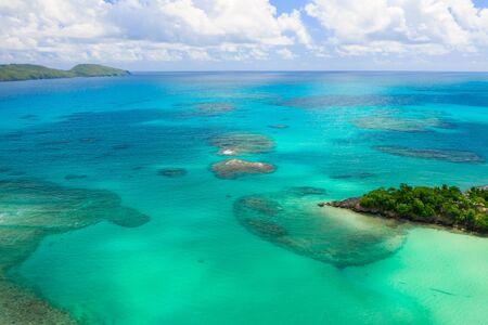 Aerial photography of wonderful tropical panorama of Rincon bay.Samana peninsula,Rincon beach,Dominican Republic. Фото со стока - 133077466