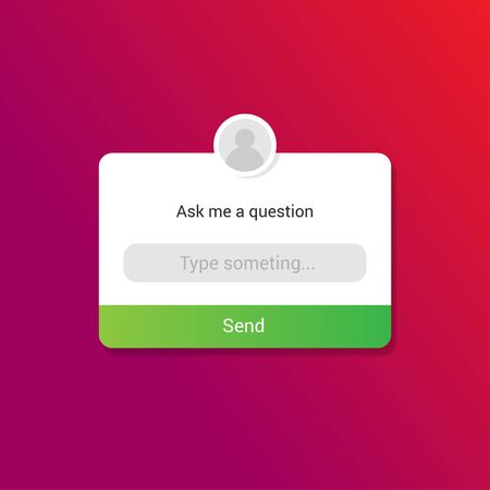 vector illustration of ask me question sticker for social media template Illustration