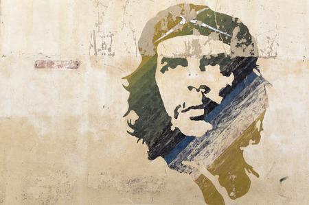 che guevara: Wall painting of Che Guevara in Havana, Cuba