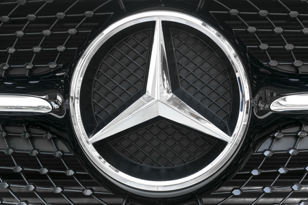 benz: TURIN, ITALY - JUNE 13, 2015: Mercedes logo