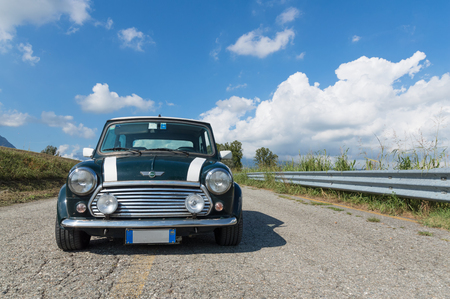 cooper: Front view of a Mini Cooper