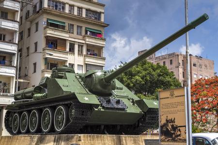 revolution: Tank at the Revolution Museum in Havana, Cuba