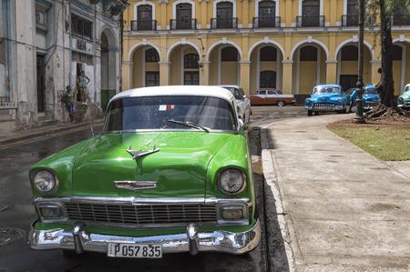 chevrolet: Green Chevrolet in Havana, Cuba