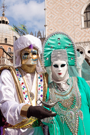 venice carnival: Venice carnival costumes Stock Photo