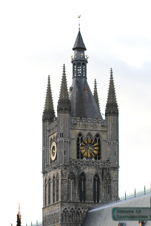 ypres: The Belfry of Ypres in Belgium is attached to the Cloth Hall