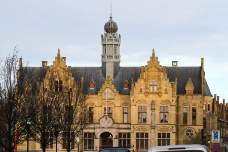 ypres: Court Hall in Ypres located on the Market Place