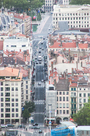 View on the city of Lyon located in in east-central France in the Rhône-Alpes region