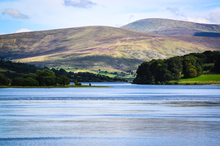 Scenic view of Blessington lake in Ireland  photo