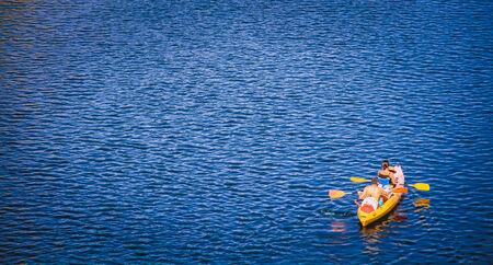 Canoe kayak Stock Photo