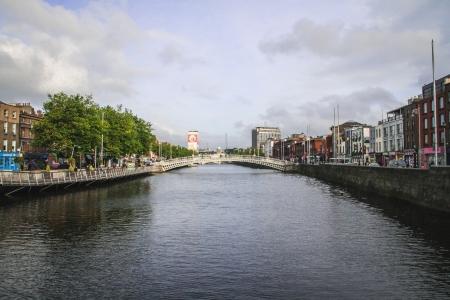 Dublin, Ireland - October 24, 2013  View of the Ha