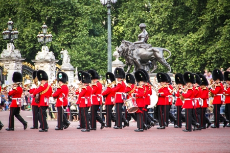 London, United Kingdom - July 28, 2013 Changing of the Guards at Buckingham Palace