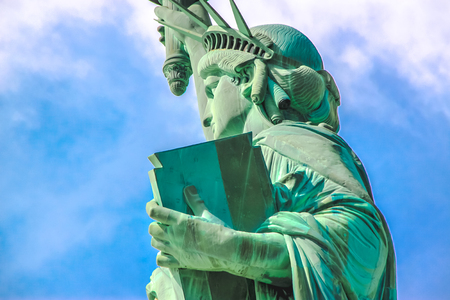 Close up Statue of Liberty left side