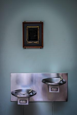 Double water fountain Stock Photo