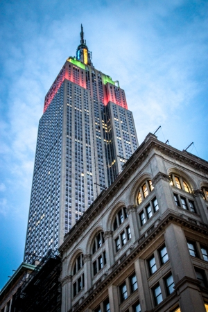 Empire state Building, midtown Manhattan in the evening, New York City