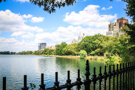 Banks of the Jacqueline Kennedy Onassis Reservoir in Central Park, New York