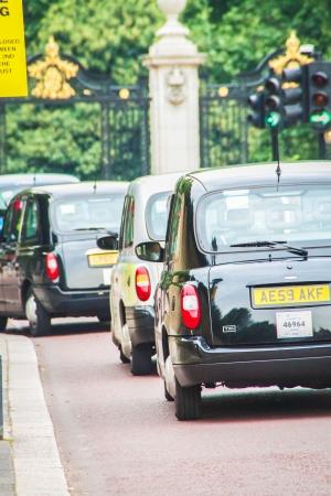 London cabs near Buckingham Palace Editorial