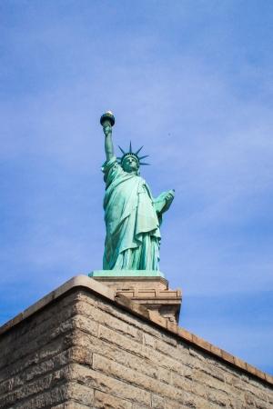 The Statue of Liberty on Liberty Island