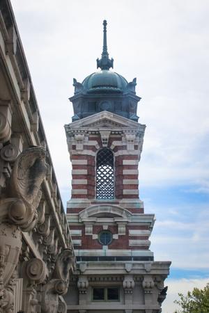 Detail a the Ellis Island building