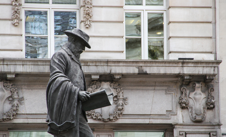 Statue of James Henry Greathead outside The Royal Exchange