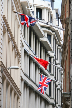 Union Jacks Flag and flag  of the People Stock Photo