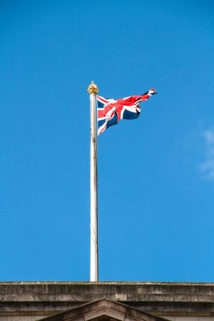United Kingdom Flag an a old building, London