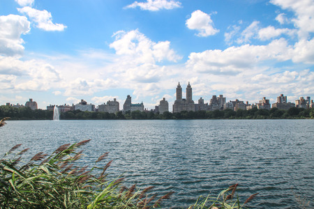 View over the Jacqueline Kennedy Onassis Reservoir in Central Park