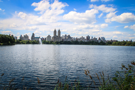 Jacqueline Kennedy Onassis Reservoir in Central Park, New York  Stock Photo