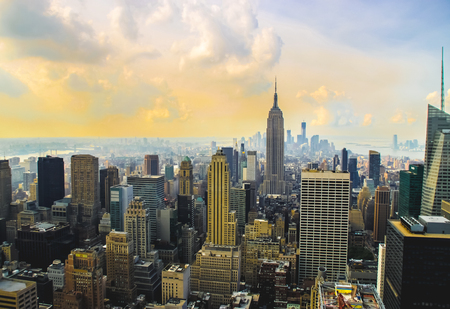 New York aerial skyline