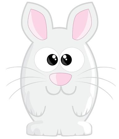 nose cartoon: Cute cartoon easter bunny