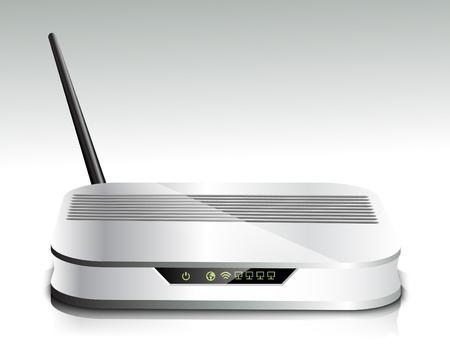 Draadloze router Stock Illustratie