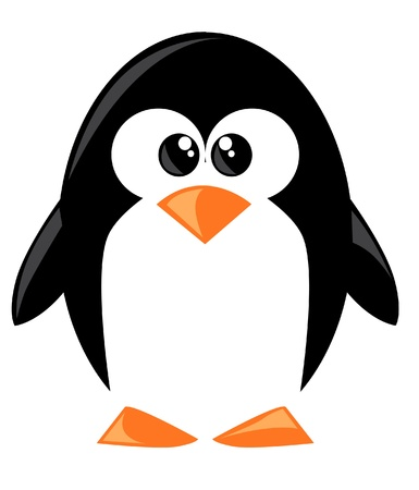cartoon penguin: Cute cartoon penguine