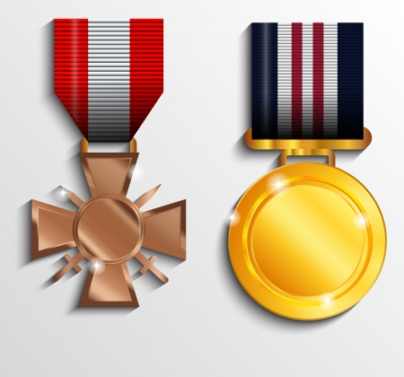 military uniform: Military medal Illustration