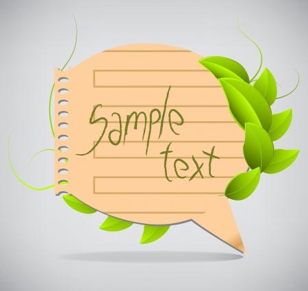 Paper speech bubble Stock Vector - 20237158