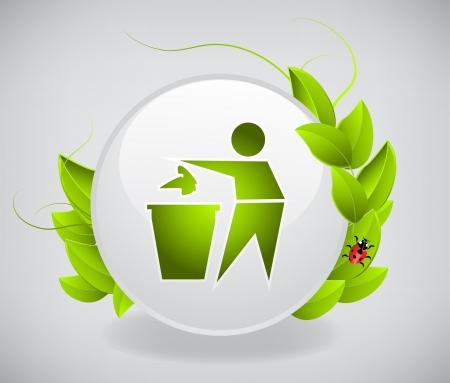 Button Recycling  Stock Vector - 20237161