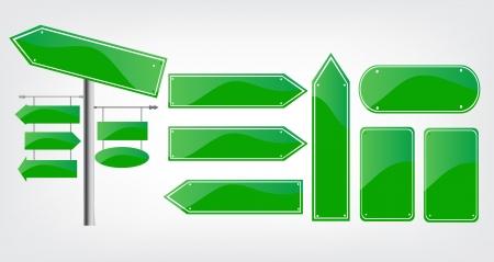 Editable street signs Banco de Imagens - 20237156