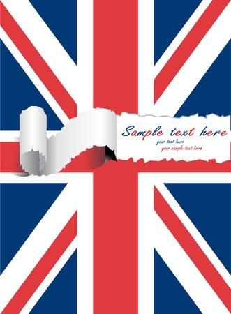 britain flag: ripped united kingdom flag