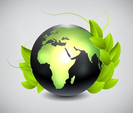 planisphere: Earth globe Illustration