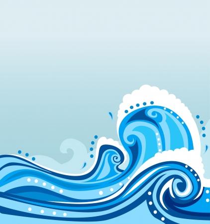 aqueous: illustrazione onda Vettoriali