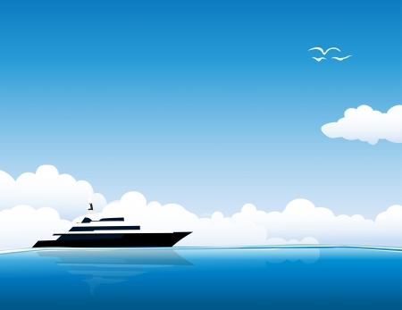 Jacht op zee