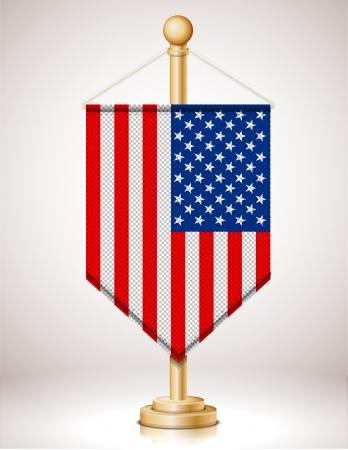 USAs flag on flagstaff