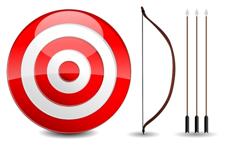 pointed: Arrows and target