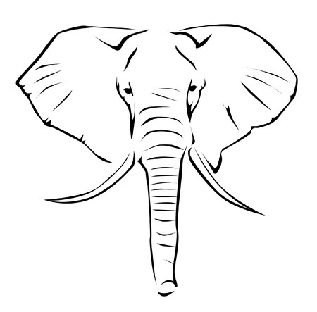 kenya: Elephant Illustration