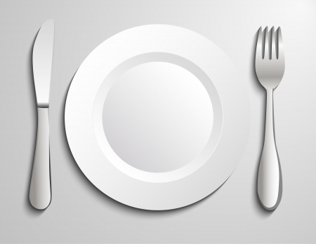 formal place setting: Plate knife and fork