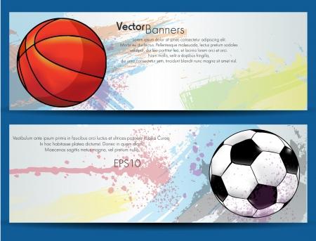 Sport ball banners Stock Vector - 20237076