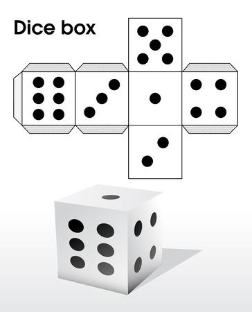 Dice box Stock Vector - 20259202