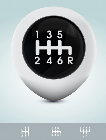 Gearshift knob Vector
