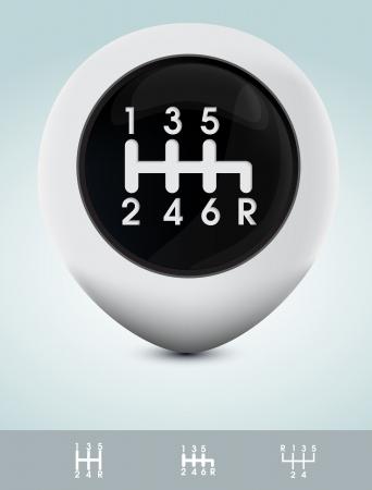 Gearshift knob Illustration