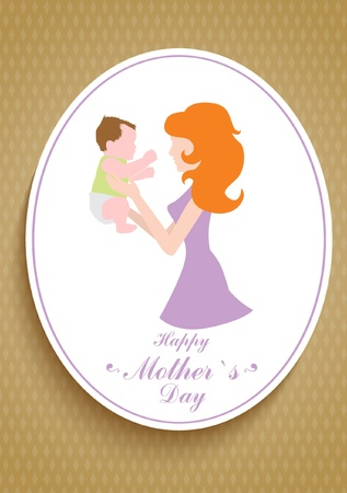 Mothers Day card Vector