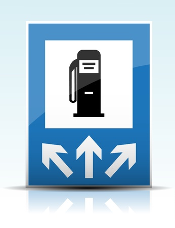 dispenser: Gas station sign Illustration