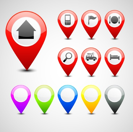 note of exclamation: GPS pin set